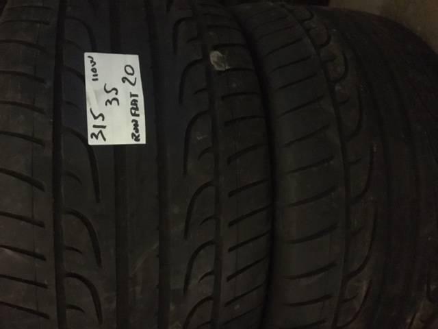 2 pneus occasions 315 35r20 y dunlop run flat mont limar pneus discount. Black Bedroom Furniture Sets. Home Design Ideas